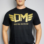 "T-shirt DM ""TCM"" gold"