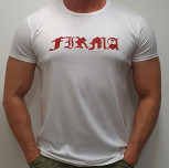 "T-shirt JP ""FIRMA JP"" white/red"